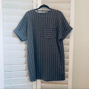 Zara Pinstripe shift dress